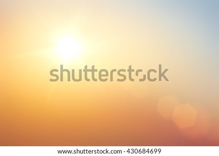 Natural spring backgrounds create light soft colors and bright sunshine a short time before sunset.