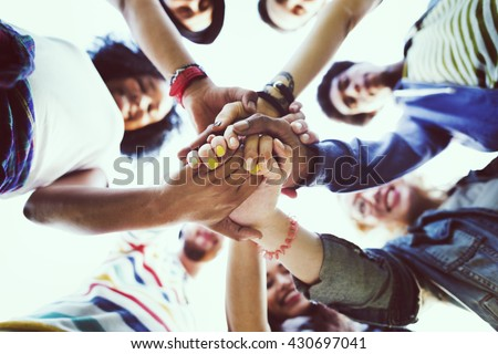 Friendship Happiness Leisure Partnership Team Concept Royalty-Free Stock Photo #430697041