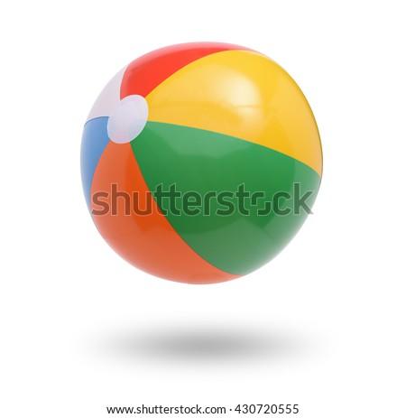 Beach ball isolated on white  Royalty-Free Stock Photo #430720555