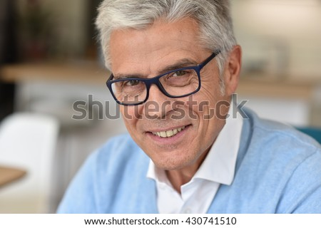 Portrait of senior man with eyeglasses #430741510