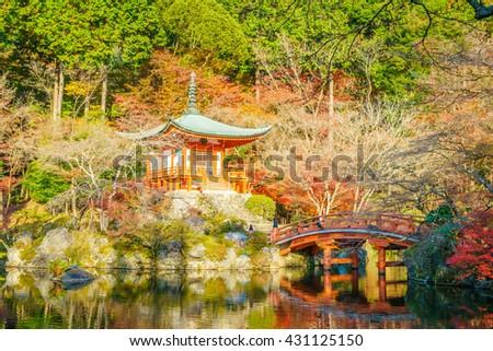 Daigo-ji temple  in autumn, Kyoto, Japan ( Filtered image processed vintage effect. ) #431125150