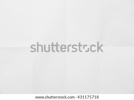 White sheet of paper folded texture #431175718