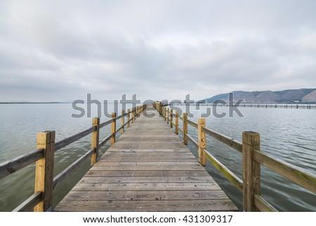 Sea wood bridge #431309317