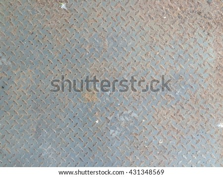 Dirty rust metal plate floor texture background #431348569