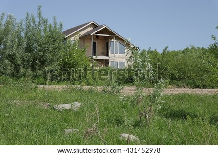 construction of wooden country houses #431452978
