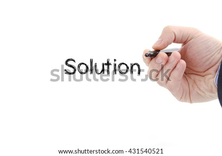 Solution text concept isolated over white background #431540521