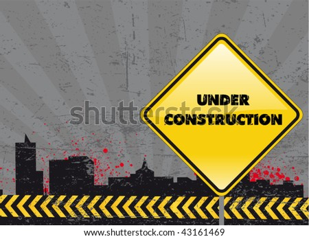under construction poster #43161469
