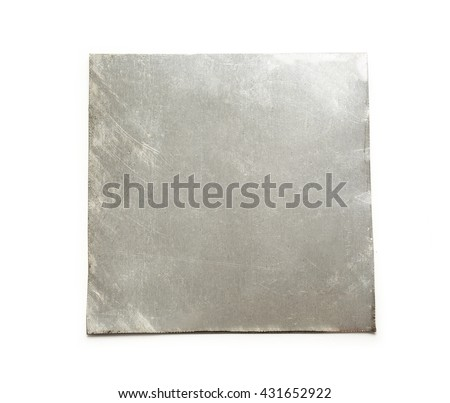 Blank square metal plate on white background #431652922