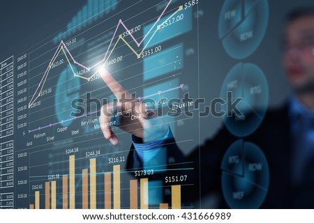 Analyzing sales data Royalty-Free Stock Photo #431666989