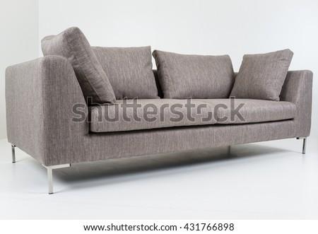 Modern furniture in white room #431766898