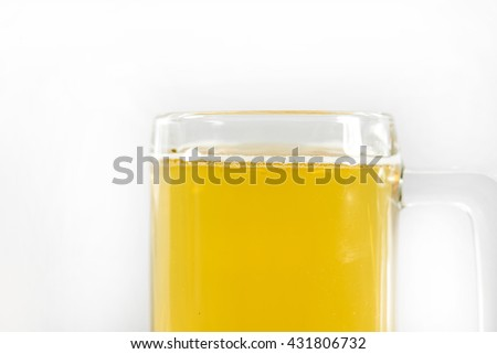 glass of beer set isolated on a white background #431806732
