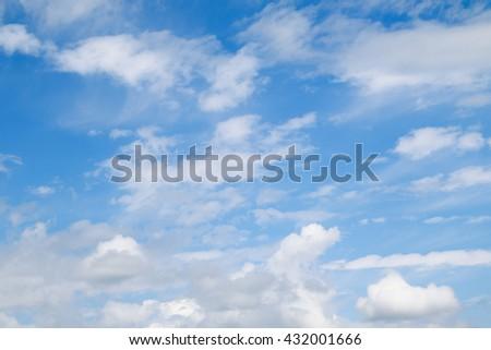 blue sky clouds #432001666