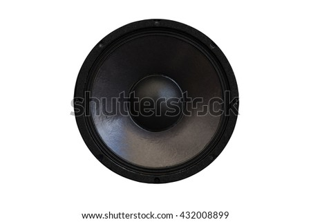Loud speaker isolated on background #432008899