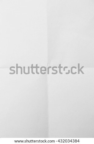 White sheet of paper folded texture #432034384