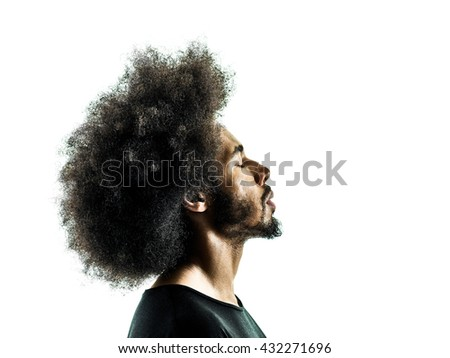 african man portrait silhouette isolated profile #432271696