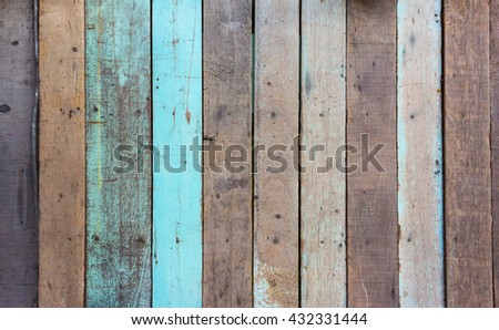 image of wood texture with natural patterns .(vintage tone) #432331444