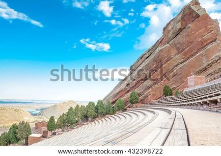 Historic Red Rocks Amphitheater near Denver, Colorado #432398722