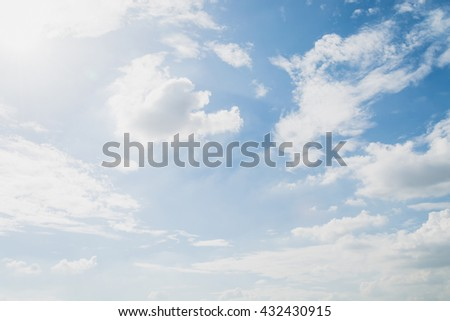 clouds white soft in the vast blue sky #432430915