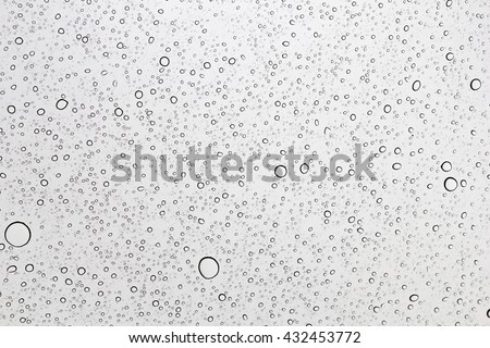 Water drops on glass, Rain drop on glass sunroof #432453772