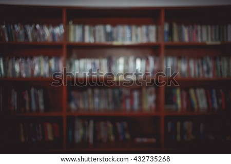 A blurred image library.  For a background image