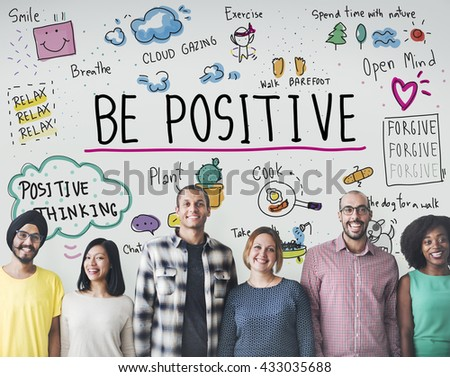 Positive Thinking Simple Life Graphic Concept Royalty-Free Stock Photo #433035688