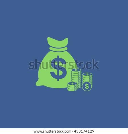 money icon. Flat design style eps 10 #433174129