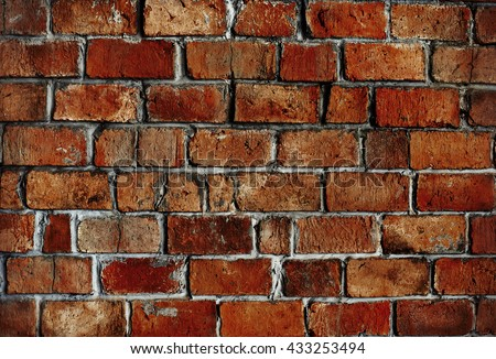 Classic Beautiful Textured Brick Wall Concept #433253494