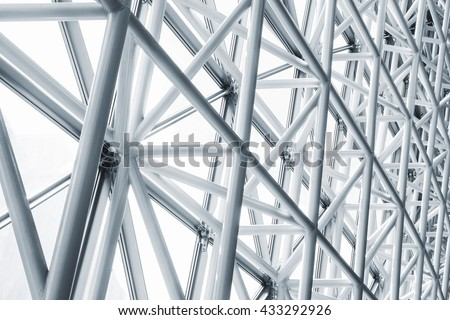 Architecture detail Modern Metal Structure Pattern Construction Royalty-Free Stock Photo #433292926