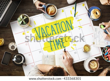 Vacation Break Journey Leave Recreation Travel Concept Royalty-Free Stock Photo #433368301