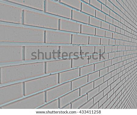 High pass grey  brick wall side vision #433411258