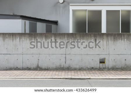 Large blank billboard on a street wall, banners with room to add your own text #433626499