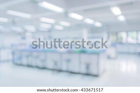 blur image of old laboratory for pharmacy background usage . Royalty-Free Stock Photo #433671517