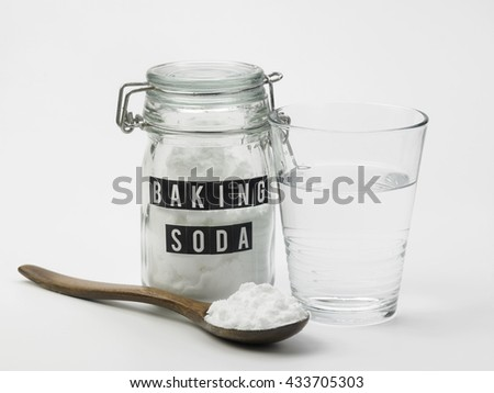 baking soda  and glass of water #433705303