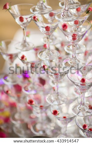 Table setting with lavender flowers, close-up #433914547