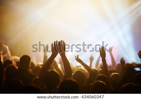 Hands of fans during a concert #434060347