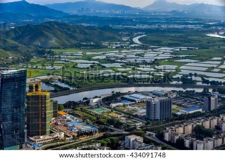 Shenzhen, China - May 29, 2016 : Shenzhen is a major city in Guangdong Province, China.  #434091748