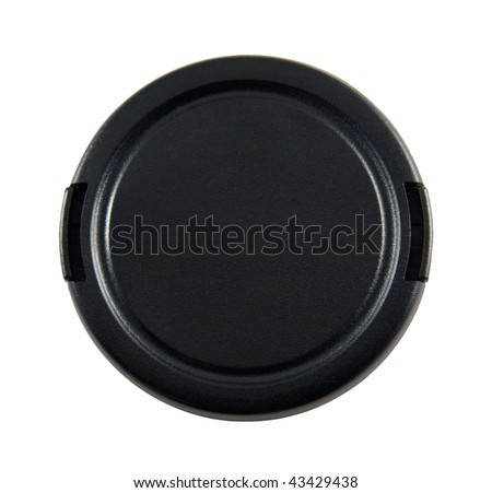 Lens cap with clipping path. #43429438