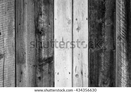 Old rustic barn wood background in black and white. #434356630