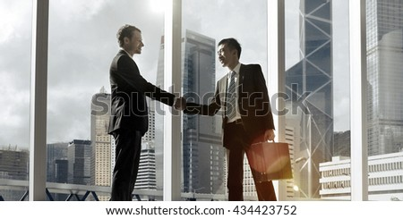 Diverse Ethnicity Businessman Greeting Concept Royalty-Free Stock Photo #434423752