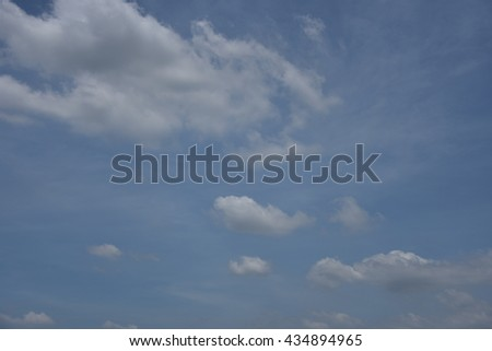 Blue sky with white clouds #434894965