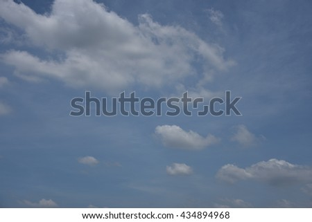 Blue sky with white clouds #434894968