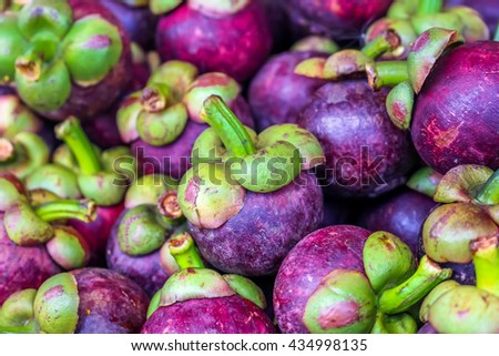 Plenty of queen of fruit, mango-teen at fruit market #434998135