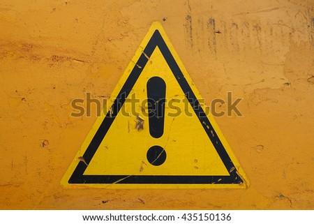warning sign attention