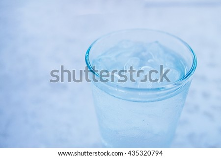 Glass of water on white background #435320794