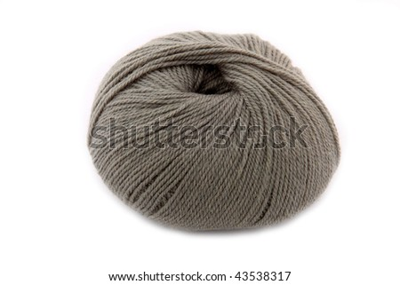Ball of gray wool yarn #43538317