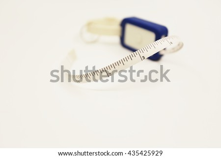 Measuring tape for control your waist #435425929