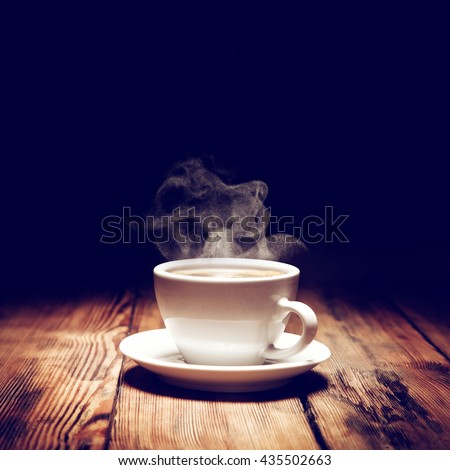 hot coffee and smoke  #435502663