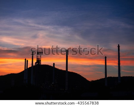 Industrial, petroleum, manufacturing and economic growth during the sunset. #435567838