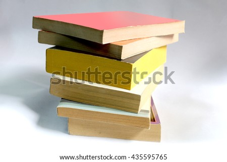 Stack of old library books #435595765