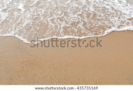 Sand and sea on the beach. Abstract natural for travel and summer background. #435735169